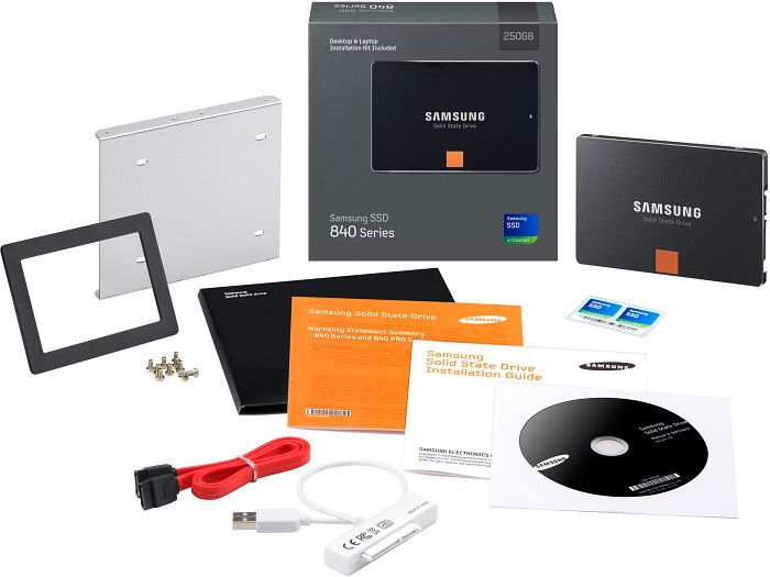 "Samsung SSD 840 Series kit 250GB, 2.5"", SATA 6Gb/s (MZ-7TD250KW) -- provided by bepixelung.org - see http://bepixelung.org/22248 for copyright and usage information"
