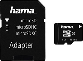 Hama High Speed microSDHC + Adapter Mobile 8GB Kit, Class 10 (108084)