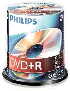 Philips DVD+R 4.7GB, 100-pack (DR4S6B00F)
