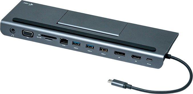 i-tec 4K Triple Display Docking Station, USB-C 3.0 [Stecker] (C31FLATPLUS112W)