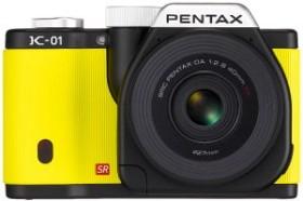 Pentax K-01 gelb mit Objektiv smc DA 40mm 2.8 XS (15341)