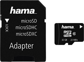 Hama High Speed microSDHC + Adapter Mobile 32GB Kit, Class 10 (108086)