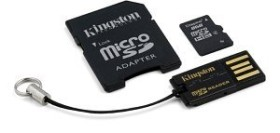 Kingston microSDHC 8GB Multi-Kit G2, Class 4 (MBLY4G2/8GB)