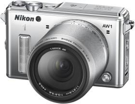 Nikon 1 AW1 silber mit Objektiv AW 11-27.5mm 3.5-5.6 (VVA202K001)