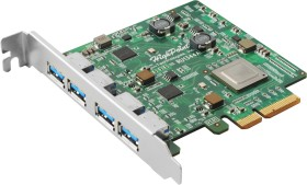 HighPoint RocketU ru1344A, 4x USB-A 3.1, PCIe 3.0 x4