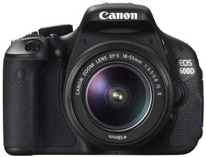 Canon EOS 600D black with lens EF-S 18-55mm 3.5-5.6 IS II (5170B024)