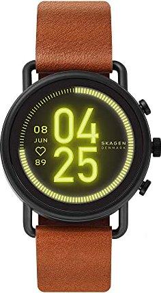 Skagen Connected Falster 3 schwarz mit Lederarmband braun (SKT5201) -- via Amazon Partnerprogramm