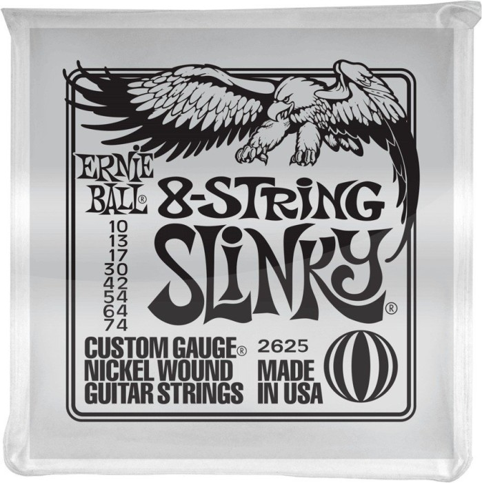 Ernie Ball nickel Wound Slinky 8-string (P02625)