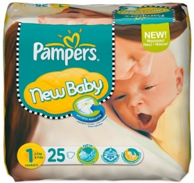 Pampers Premium Protection New Baby Gr.1 Einwegwindel, 2-5kg, 25 Stück