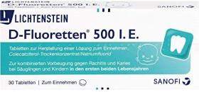 D-Fluoretten 500 I.E. Tabletten, 30 Stück