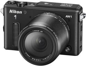 Nikon 1 AW1 schwarz mit Objektiv AW 11-27.5mm 3.5-5.6 und AW 10mm 2.8 (VVA201K002)
