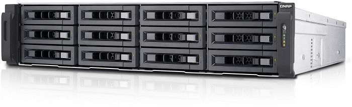 QNAP Turbo Station TS-EC1280U-i3-4GE-R2 24TB, 4x Gb LAN, 2HE