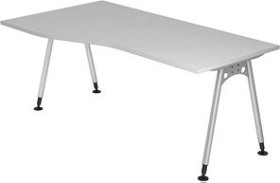 Hammerbacher Ergonomic Plus A-Serie AS18/5, grau, Schreibtisch