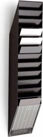 Durable Prospekthalter Flexiboxx 12, A4 Hochformat, 12 Fächer, schwarz (1709763060)