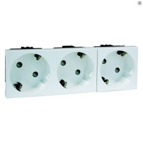 Peha Concept 45 Steckdose SCHUKO 3fach, anthrazit (D 6213.21 EMS SI WI)