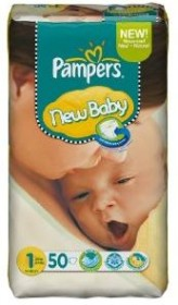 Pampers Premium Protection New Baby Gr.1 Einwegwindel, 2-5kg, 50 Stück