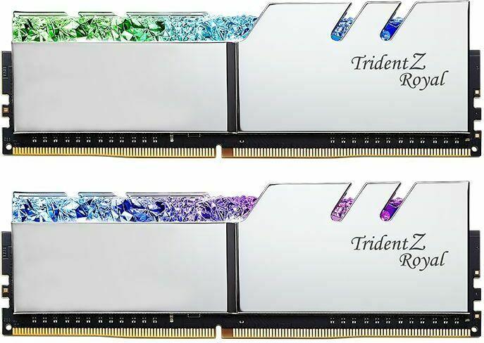 G.Skill Trident Z Royal silber DIMM Kit 32GB, DDR4-3200, CL16-18-18-38 (F4-3200C16D-32GTRS)