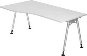 Hammerbacher Ergonomic Plus A-Serie AS18/W, weiß, Schreibtisch