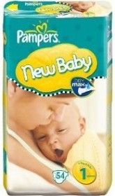 Pampers Premium Protection New Baby Gr.1 Einwegwindel, 2-5kg, 108 Stück (2x 54 Stück)