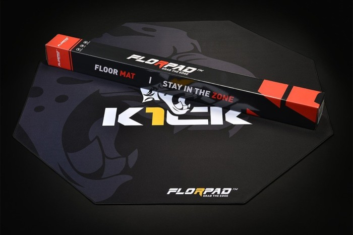 weich K1CK Gamer-//Esport-Bodenschutzmatte Team FM/_K1CK FlorPad