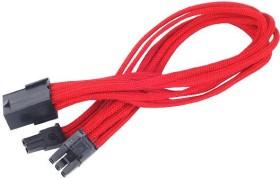 SilverStone PP07-PCIR, 6/8-Pin PCIe Verlängerung 250mm, sleeved rot (SST-PP07-PCIR/40095)