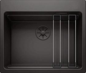 Blanco Etagon 6 InFino mit Ablauffernbedienung Black Edition (526339)