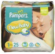 Pampers Premium Protection New Baby Gr.1 Einwegwindel, 2-5kg, 150 Stück (6x 25 Stück)