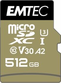 Emtec SpeedIN PRO R95/W85 microSDXC 512GB Kit, UHS-I U3, A2, Class 10 (ECMSDM512GXC10SP)
