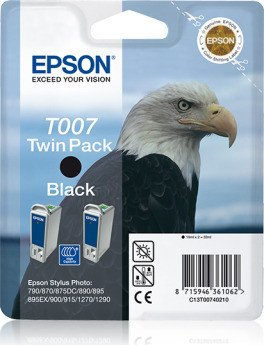 Epson ink T007 black, 2-pack (C13T00740210)