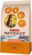 IAMS Naturally erwachsene Katze mit viel nordatlantischem Lachs & Reis 700g