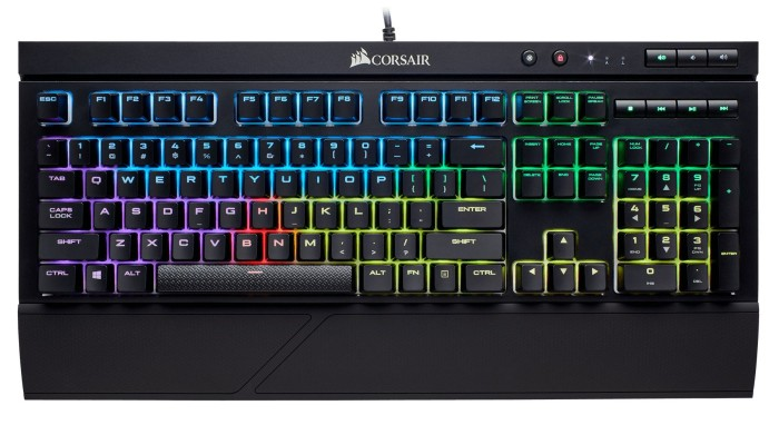 Corsair Gaming K68 RGB, LEDs RGB, MX RGB RED, USB, ND (CH-9102010-ND)