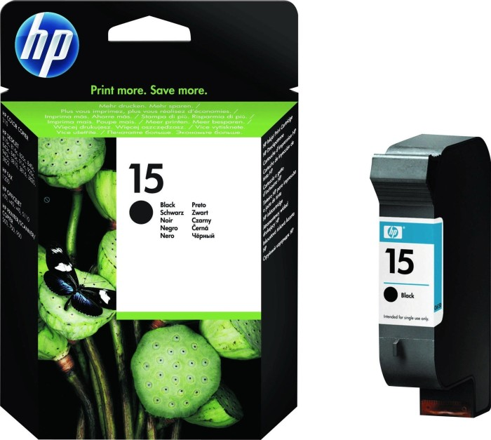 HP Printhead with ink 15 black 25ml (C6615DE)