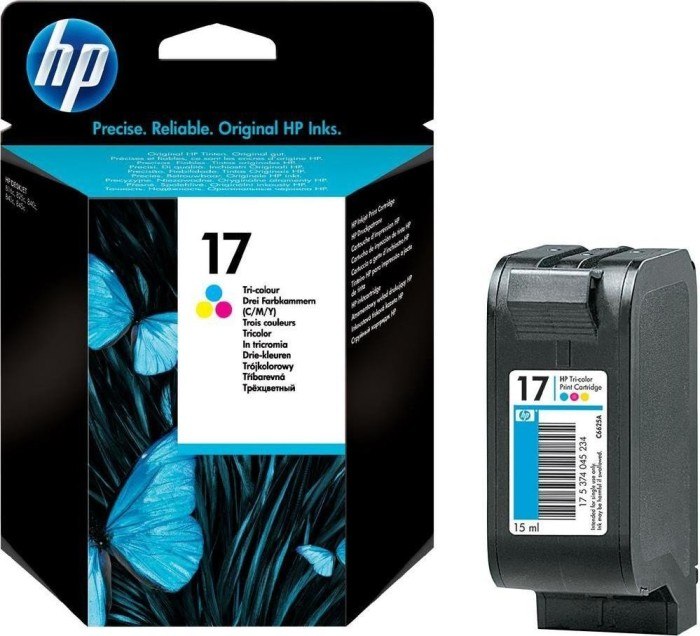 HP 17 Printhead with ink coloured (C6625AE)