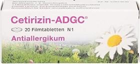 Cetirizin-ADGC Filmtabletten, 20 Stück