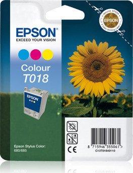 Epson T018 tusz kolorowy (C13T01840110)