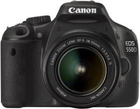 Canon EOS 550D schwarz mit Objektiv EF-S 18-55mm und EF 75-300mm (4463B117)