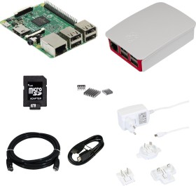 Raspberry Pi 3 Modell B, Official Starter Kit 2, 16GB microSD, Gehäuse weiß