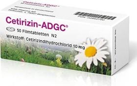 Cetirizin-ADGC Filmtabletten, 50 Stück