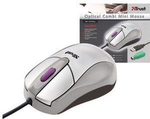 Trust MI-2530p Optical Combi Mini Mouse, PS/2 & USB (12774)