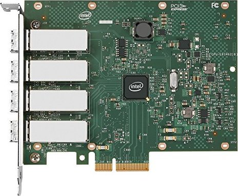 Intel Ethernet I340-F4, 4x 1000Base-SX, PCIe x4, low profile (E1G44HT)