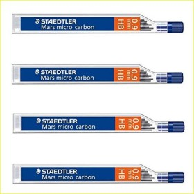 Staedtler Mars micro carbon 250 Druckbleistiftmine, HB 0.9mm, 48er-Pack (250 09-HB#48)