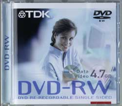 TDK DVD-RW 4.7GB 4x, 5-pack Jewelcase (T18816)
