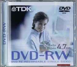 TDK DVD-RW 4.7GB 4x, Jewelcase 5 sztuk (T18816)