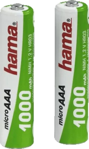 Hama Micro AAA NiMH rechargeable battery 1000mAh, 2-pack (87055) -- via Amazon Partnerprogramm