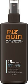 Piz Buin Ultra Light Hydrating Sun Spray LSF15, 200ml