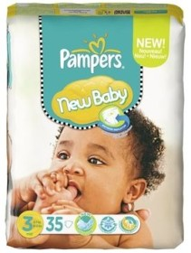 Pampers Premium Protection New Baby Gr.3 Einwegwindel, 4-7kg, 140 Stück (4x 35 Stück)