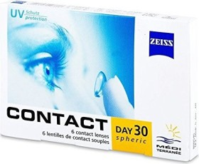 Zeiss Contact Day 30 Spheric, +1.00 Dioptrien, 6er-Pack