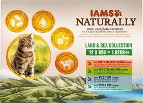 IAMS rwachsene Katze Land- und Seekollektion in Sauce 1.02kg (12x 85g)