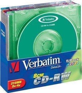 Verbatim CD-RW 24min/210MB, 5-pack
