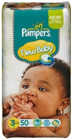 Pampers Premium Protection New Baby Gr.3 Einwegwindel, 4-7kg, 50 Stück